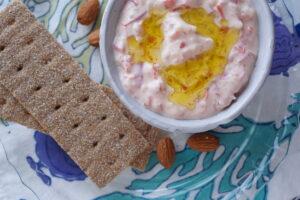 パプリカの豆乳ヨーグルトディップ|レシピ