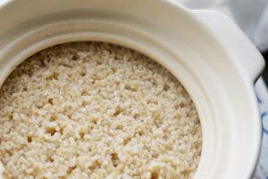 発芽玄米のおいしい炊き方 ふっくら柔らか・土鍋のレシピ