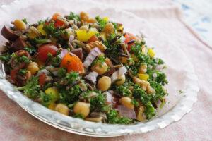 ワイルドライスとひよこ豆のタブーレ(パセリサラダ)レシピ